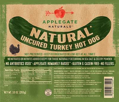 (Applegate Natural Uncured Turkey Hot Dogs 10 Oz (4 Pack))