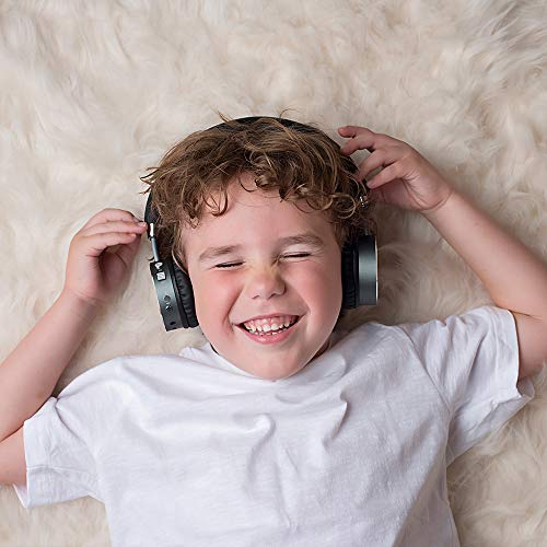 Puro Sound Labs BT2200 On-Ear Headphones Lightweight Portable Kids Earphones with Safe Wireless, Volume Limiting, Bluetooth and Noise Isolation for Smartphones/PC/Tablet - BT2200 Grey by Puro Sound Labs (Image #5)