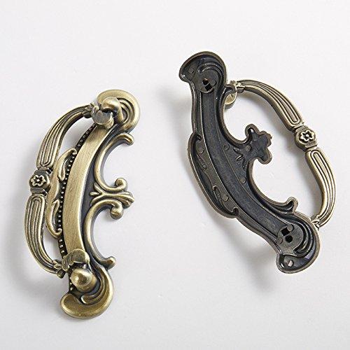 Globalwells Luxury Retro ring style Cabinet Drawer Wardrobe Pull Handle Hardware 2-1/2'' (64mm) Hole Centers-5 Pack by G-Hardware (Image #2)
