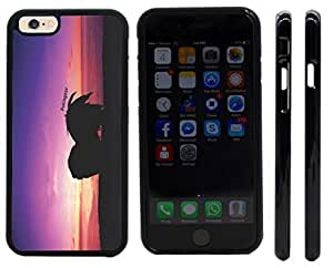 Rikki KnightTM Pekingese Dog at Sunset Design iPhone 6 Case Cover (Black Rubber with front bumper protection) for Apple iPhone 6