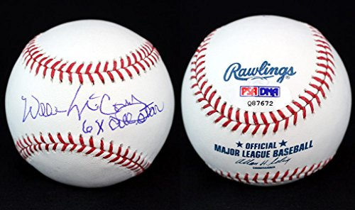 Signed Willie McCovey Baseball - ROMLB + 6 x All Star - PSA/DNA Certified - Autographed Baseballs (Willie Baseball Mccovey Signed)