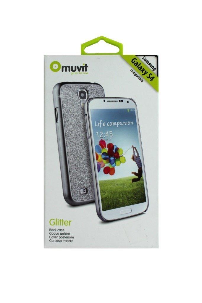 Amazon.com: Muvit Glitter Case for Samsung Galaxy S4 Black ...