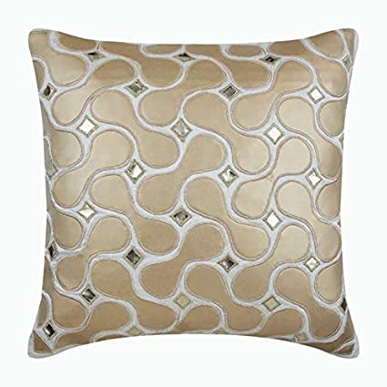 Amazon.com: Ivory Decorative Pillows Cover, Modern Geometric ...