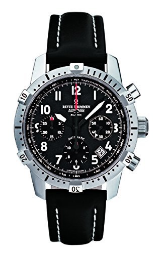 Revue Thommen Airspeed Commander Xlarge 16055.6537 41mm Automatic Stainless Steel Case Black Calfskin Anti-Reflective Sapphire Men's Watch