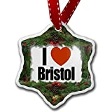Christmas Ornament I Love Bristol region: South West England, England - Neonblond