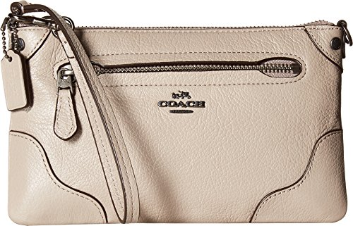 COACH Women's Grain Leather Mickie Wristlet Qb/Grey Birch One Size by Coach