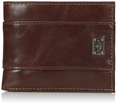 Dockers Men's Traveler Wallet,Light - Traveler Leather Brown