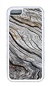iPhone 5C Cases & Covers - Exaggerated Wood Grain Custom TPU Soft Case Cover Protector for iPhone 5C¨CWhite