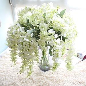 Orangeskycn Fake Flowers Artificial Flowers Floral Bouquet Wisteria Floral Wedding Decorations Party Decor 33