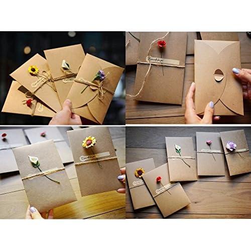 Jzk 12 Cartes De Vœux Vierges En Papier Kraft Avec Enveloppe