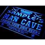 qe-tm Name Personalized Custom Man Cave Hockey Bar Beer Neon Sign
