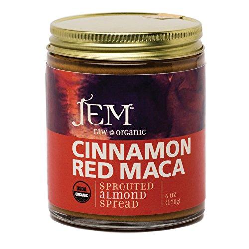 Jem Raw, Vegan, Organic Cinnamon Red Maca Almond Butter Spread 6 oz