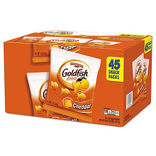 (Pepperidge Farm 1051900 Goldfish Crackers, Cheddar, 1 oz Bag, 45/Carton)