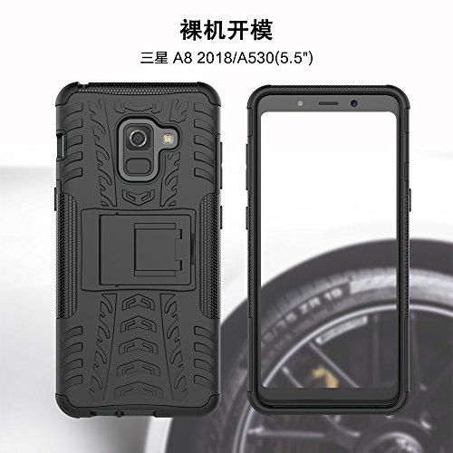 Caja antideslizante al aire libre Sport Back para Samsung Galaxy A8 (2018) ( Color : Green ) Black