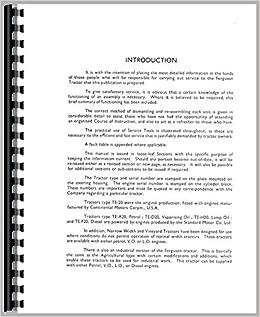 Ferguson Service Bulletins Service Manual: Massey Ferguson