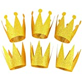 Party Crowns Gold Glitter Party Crowns Birthday