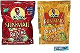 Sun Maid Raisins Variety Pack. Sun Maid California Raisins and Golden Raisins. Convenient One-Stop Shopping For 2 Popular Snack Choices. Vegetarian Friendly. Includes 5 pack Gum Sample.