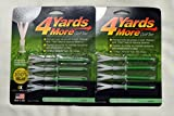 4 Yards More Golf Tees 4'' - Green - 2 Packs of 4 - (11926)