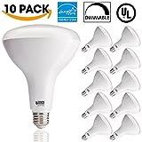 Sunco Lighting 10 PACK - BR40 LED 17WATT (100W Equivalent), 5000K Daylight, DIMMABLE, Indoor/Outdoor Lighting, 1400 Lumens, Flood Light Bulb- UL & ENERGY STAR LISTED
