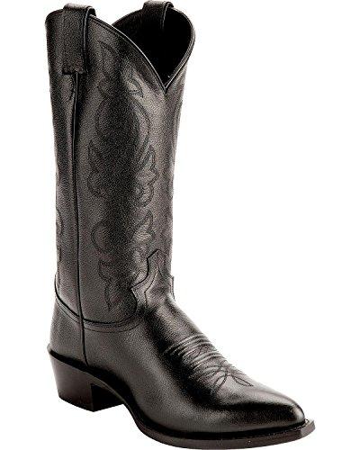 Justin Men's Corona Cowboy Boot Pointed Toe Black 12 EE US