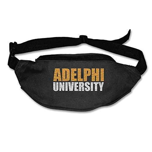 YUVIA Adelphi University Men's&Women's Waist Pack Belt Pocket Black