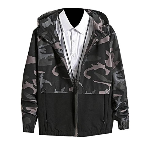 Zip men Studenti Con Verde Cappuccio Cappotto Againg Bomber Punto Con Militare Vestiti Giacca Cime Uomini Camo Againg 5X7w5Tq