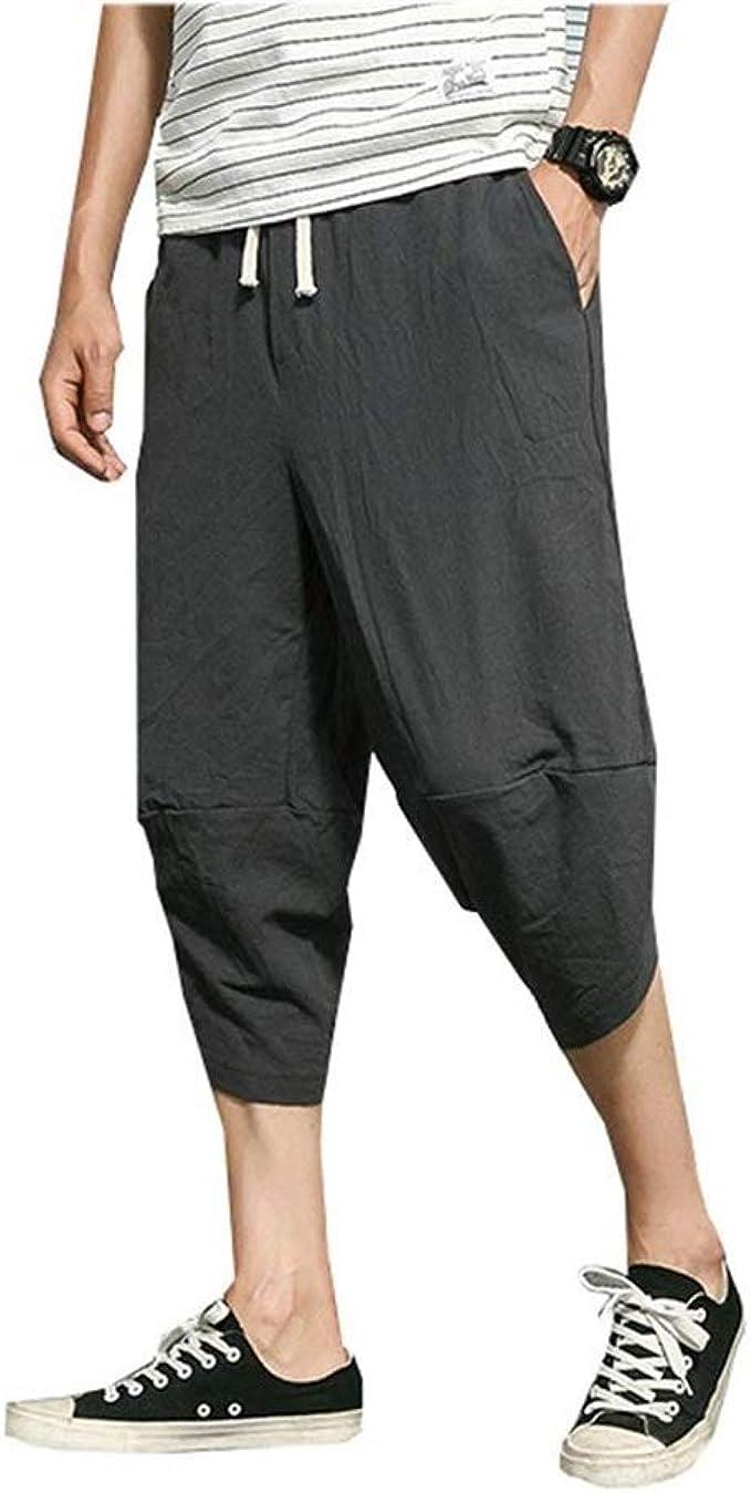 Pantalones Harem Capri Casual Para Hombre Pantalones Harem Pantalones Harem De Cintura Clasico Elastica Bolsas De Color Solido Pantalones Aladino De 3 4 Pantalones Cortos De Playa Chicos Amazon Es Ropa Y Accesorios