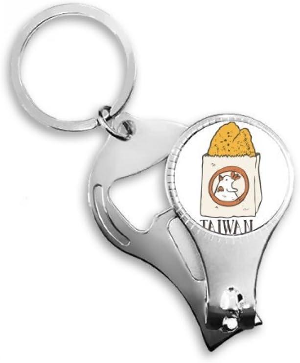 Snake Food Fried Chicken Taiwan Nail Nipper Ring Key Chain Bottle Opener Clipper