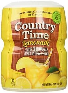 Country Time Lemonade Drink Mix, 19 oz, Makes 8 qt