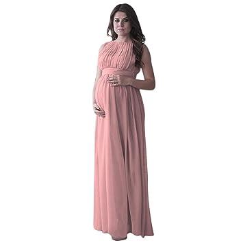 ieason mujeres embarazadas Drape fotografía Props Casual lactancia Boho Chic Tie vestido largo