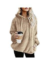 TcIFE Long sleevesweat Shirt,Women's Sweatshirt,Fur Coat,Winter Fashion,Pullover Hoodie,Plus Size Fashions