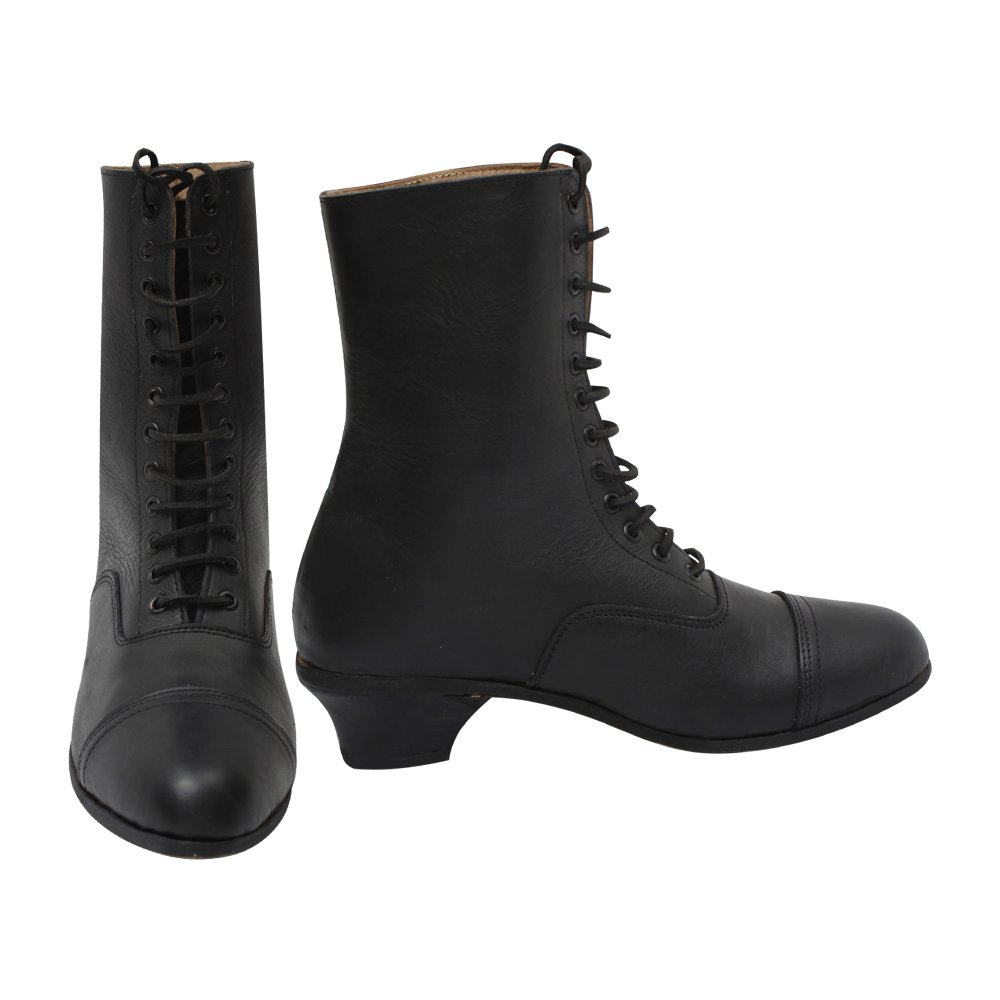 Steampunk Boots & Shoes, Heels & Flats 10Code Lace-up Boots £92.99 AT vintagedancer.com