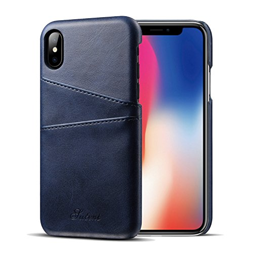 Iessvi iPhone X Wallet Phone Case Slim PU Leather Back Case Cover with Credit Card Holder Wallet Phone Case, for Men and Women (1) (The Best Cash Back Credit Card)