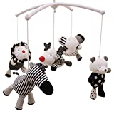 SHILOH Baby Infant Crib Stroller DIY Mobile Hanging Dolls Set 5 PCS (Zoo Animals)