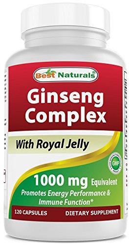 Best Naturals Ginseng complex 1000 mg, 120 Count