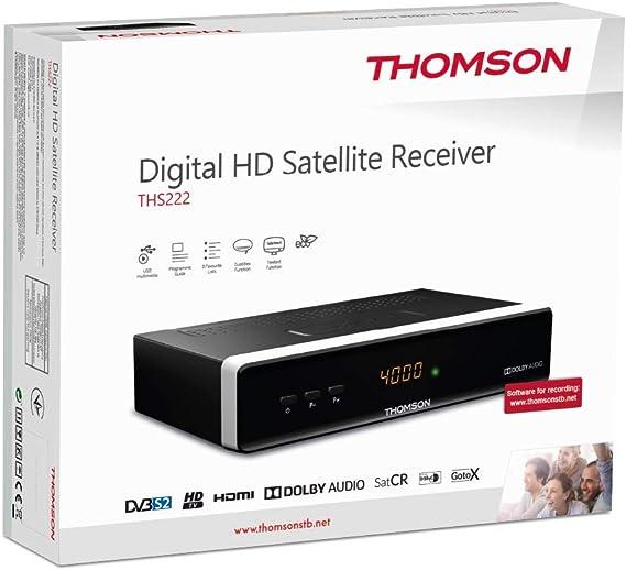 Thomson THS222 HD DVB-S2 Digital Receptor de TV; Decodificador Satélite; negro: Amazon.es: Electrónica