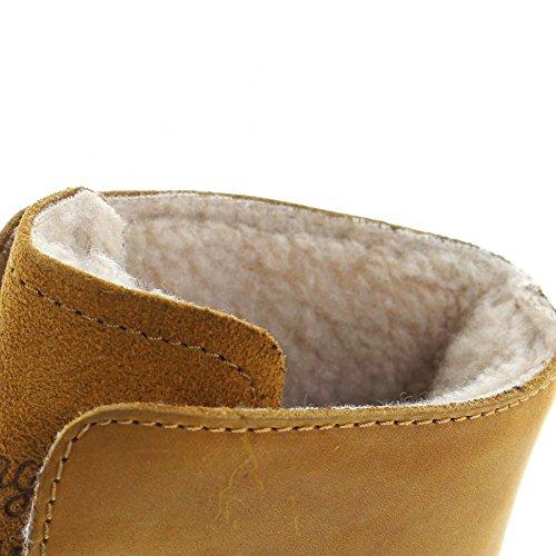 FB Fashion Boots Wrangler Aviator WM122785K Camel/Herren Schnürstiefel Braun/Fellstiefel/Gefütterter Herrenstiefel Camel