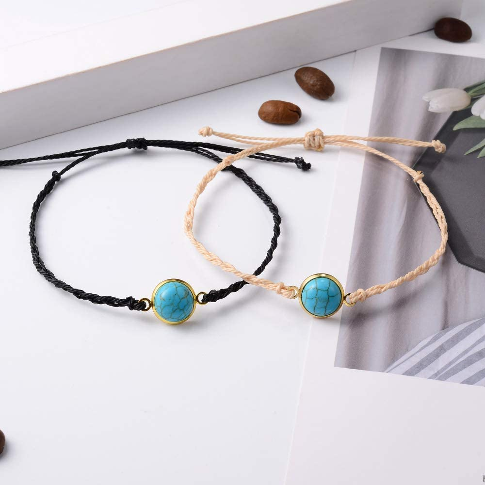 SUNSH 2Pcs Infinity//Turquoise//Shell Charm Pinky Promise Distance Bracelets for Women Girls Friendship Couple Best Friends Mom Daughter Bracelet Gifts for Mothers Day Birthday Graduation