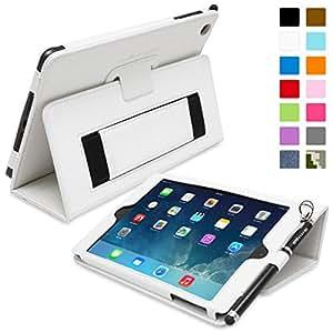 iPad Mini & Mini 2 Case, Snugg™ - Smart Cover with Flip Stand & Lifetime Guarantee (White Leather) for Apple iPad Mini & Mini 2 with Retina