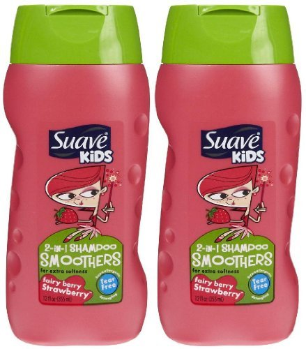 Suave Kids 2-in-1 Shampoo & Conditioner - Strawberry Swirl - 12 oz - 2 pk (Suave Kids Hair Smoothers)