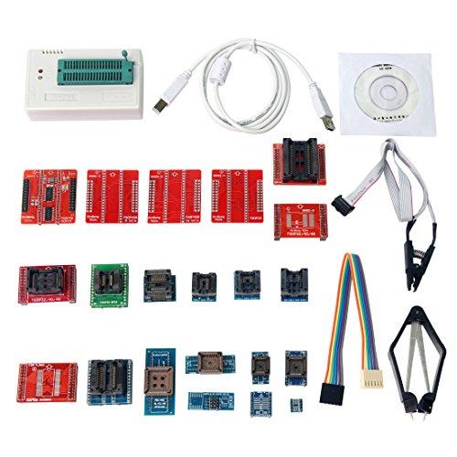 Signstek Original TL866A Universal Minipro Programmer + 21 Adapters + IC Clip Clamp AVR PIC BIOS 51 MCU Flash EPROM Programmer by Signstek