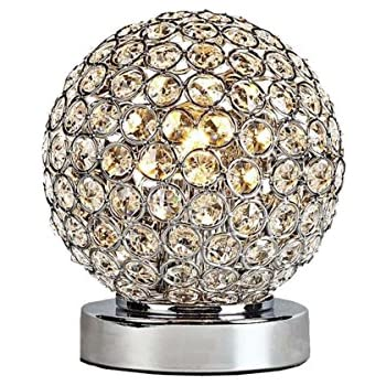 Amazon Com Crystal Silver Ball Table Lamp Bulb Included