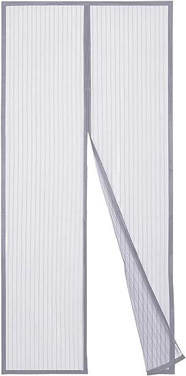 Sekey 210x90 cm Cortina Magnética de Puerta a Prueba de Mosquito para Puertas de Madera, Puertas de Hierro, Puertas Metálicas, Puertas del Balcón, Puertas de RV, Cierre Magnético Automático, gris: Amazon.es: Bricolaje