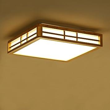 Lámpara de Techo de Madera Simple Lámparas de Sala de Estar ...