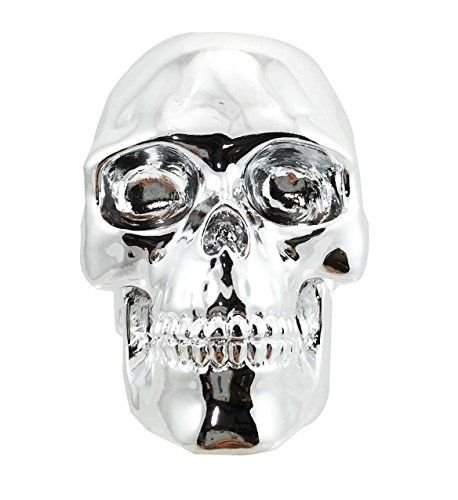 Chrome Plated Shiny Aztec Relic Skull Auto Car Shift Knob Figurine Styler