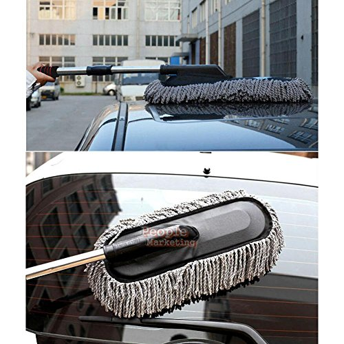 VIPASNAM-Microfiber Car Wash Cleaning Brush Duster Dust Wax Mop Telescoping Dusting Tool (Convertible Riding Glasses)