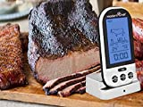 Modern Chef Wireless Digital Thermometer, Perfect for Cooking Meat, BBQ, Oven, Smoker, Grilling, Broiling, Ribs, Steak, Chicken, Beef with Timer, Batteries and 2 Probes in Silver