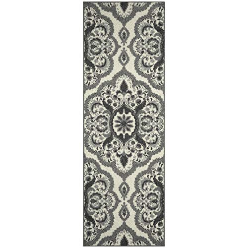Maples Rugs Runner Rug - Vivian 2 x 6 Non Skid Hallway Carpet Entry Rugs Runners [Made in USA] for Kitchen and Entryway, 2' x 6', - Runner Thin Rug