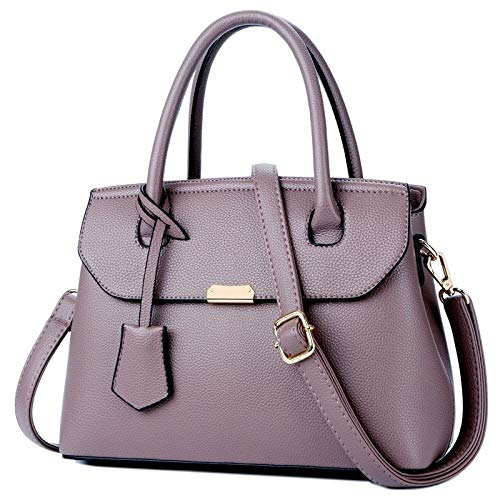 FLHT, Borsa Femminile, Borsa Da Donna In Pelle PU Grande Capacità Borsa Messenger Bag Tracolla Borsa Da Viaggio Piccola Borsa Cosmetici Lavoro Shopping Bag Borsa In Pelle Purple