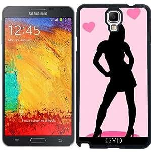 Funda para Samsung Galaxy Note 3 Neo/Lite (N7505) - Mujer En La Falda Con El Corazón by zorg